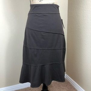 Athleta Brown Stretch Tiered Skirt XS